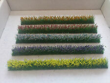 5  Flower strips for OO / HO gauge Model Railway/Dioramas/Scenery.