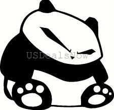 (2) BLACK Fat JDM Panda Vinyl Decal Sticker Car Window Hood Laptop Hoonigan iLL