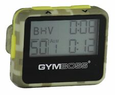 GYMBOSS INTERVAL TIMER AND STOPWATCH GREEN CAMO / YELLOW SOFTCOAT FR GYMBOSS HQ