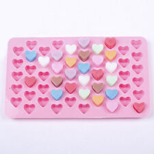 Silicone 55 Mini Heart Shape Cake Chocolate Cookies Mold Tray Baking Mould