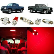 12x Red LED interior package kit for 1999-2006 Chevy Silverado & GMC Sierra CS4R