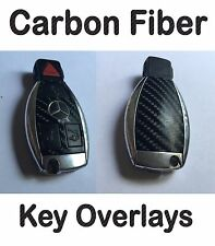 Mercedes Benz Carbon Fiber Key Fob Overlay Kit Sticker C55 C63 AMG CL500 CL600