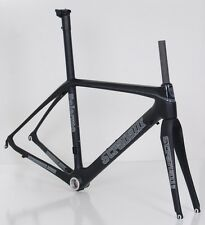 54CM M CARBON FIBER ROAD BIKE BICYCLE ISP FRAME SET STRADALLI PALERMO BLACK BB30