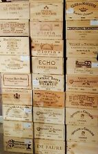 1 Wine Crate French Original Twelve count Bottles Wine WOOD BOX