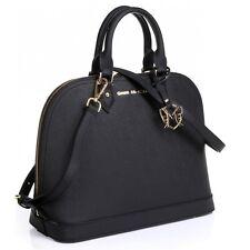 The Isabelle Tote Saffiano Leather Handbag Purse Black - Greg Michaels bag