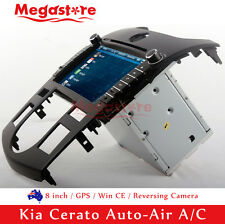 "8"" Car DVD GPS Nav Head Unit Radio Stereo For Kia Cerato Auto-Air A/C 2009-2012"