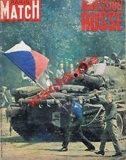Paris Match n°1008 du 31/08/1968 Prague URSS Tchécoslovaquie Algérie Edgar Faure