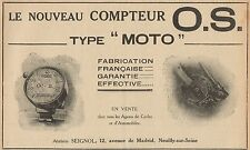 Y7329 Compteur O.S. Type Moto - Pubblicità d'epoca - 1919 Old advertising