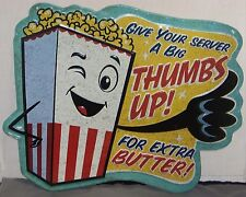 POPCORN Home THEATER Movie Room CINEMA Concession Advertisng Sign COKE Candy