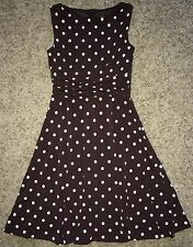 JESSICA Howard BROWN Polka DOT Stretch PRETTY Woman DRESS 4P 4 Petite LN!