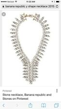 NWT Banana Republic Y Shaped Rhinestone Statement Necklace. $138 2015. Stunning!