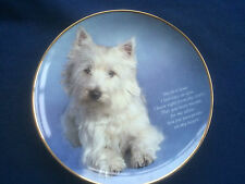 """Danbury Mint Poetry Of The Westie """"Pawprints On My Heart"""" plate"""