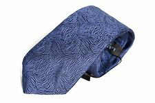 NEW $140 Lanvin Swirl Jacquard Silk Tie BLUE 100% Authentic Made in France 2016