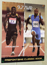 2006 Prefontaine Classic POSTER Track & Field GATLIN vs POWELL 18 x 24 Hayward