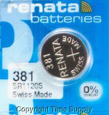 1 pc 381 Renata Watch Batteries SR1120SW FREE SHIP 0% MERCURY