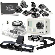 GOPRO HERO 2 HD 1080P CAMERA FULLY LOADED ACTION ACCESSORIES & UNDERWATER KIT
