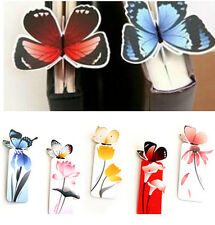 2X Creative Butterfly Bookmarks Cartoon Book Marks Paper Clip Office School Gift