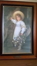 Victorian Oil On Board 'Harebells' Sigismund Goetze 1903 Printed Stephen Selby