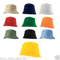 100% Cotton Adults Bucket Hat - Summer Fishing Boonie Beach Festival Sun Cap