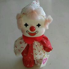 Poter Vintage 1986 Wind Up Musical Clown Plush Doll