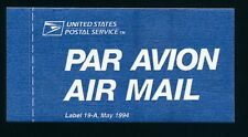 84485) Luftpost Vignette Air Mail label, USA USPS ...1994