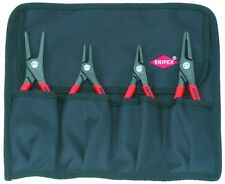 Knipex 4pc Snap Ring Plier Set Internal External Circlip 001957 in Tool Roll