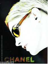 PUBLICITE ADVERTISING 125  2002  CHANEL collection lunettes femme
