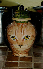 Custom SMALL Pet urn for CAT ashes ash otange tabby Cats cremation jar memorial