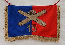 Fanion Flamme de Trompette du 15° Régiment d'Artillerie 15° R.A. Cannetille