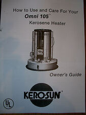 KERO-SUN -Toyostove, Toyotomi, OMNI 105  Owners/Parts Manual