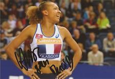ATHLETICS: RENELLE LAMOTE SIGNED 6x4 ACTION PHOTO+COA *RIO 2016* *FRANCE*