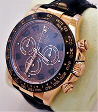 Rolex Daytona 116515 LN 18K Rose Gold Cosmograph Chocolate on Leather *MINT*