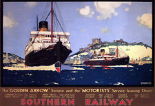 Art Ad The Golden Arrow Southern Railways Train Rail Travel  Poster Print