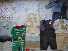 WINTER NEW USED NICE 54 NEXT GAP DEBENHAMS BUNDLE BABY BOY CLOTHES 0/3 MTHS (8)