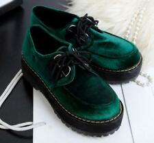 England Women College Original  Platform Pumps Lolita Lace Up Creeper Punk Shoes