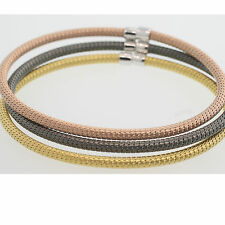 3 MESH BRACELETS SNAKE WIRE MESH BANGLE - 3 MULTI COLORS SET