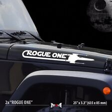 2x ROGUE ONE X WING Squadron Star Wars Car Vinyl Stripes Sticker Decal Set