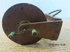 OLD, PRIMITIVE, HAND MADE WOODEN FISHING REEL