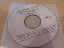ELVIS COSTELLO & BURT BACHARACH - PAINTED FROM - RARE FRENCH ONLY PROMO CD !!!!!
