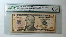 $10 2009 Federal Reserve Star Note PMG 68 EPQ Cleveland District Fr#2041-D* JD