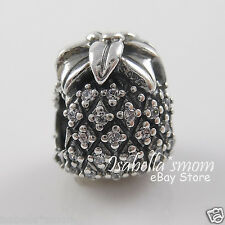 SPARKLING PINEAPPLE Authentic PANDORA Silver/CZ Fruit PINACOLADA Charm~Bead NEW
