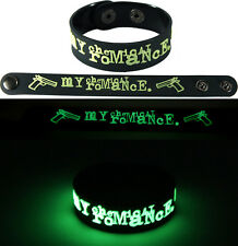 MY CHEMICAL ROMANCE  NEW! Bracelet Wristband gg52 Glow in the Dark Free Shipping