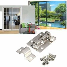 1.5'' Home Door Bolt Window Clasp Stainless Steel Security Gate Latch Slide Lock