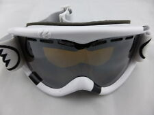 Electric EG1 Snow Goggle Gloss White - Bronze/Silver Chrome + Yellow Lens