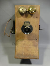 Antique KELLOGG Edwardian OAK General COUNTRY Store HAND CRANK Style WALL PHONE