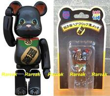 Medicom Skytree Bearbrick 100% Lucky Cat Neko Metallic Black Sky tree Be@rbrick