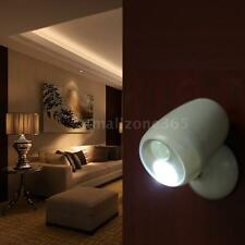 Rotatable LED Security Wall Lamp with PIR Motion&Light Sensor Battery Power N8X1