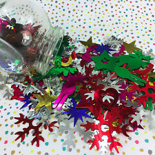 50g  mixed Christmas sequins snowflakes, stars, reindeers