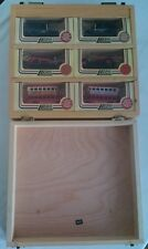 LLEDO  PROMOTIONAL SET OF SIX DIECAST VEHICLES IN WOODEN DISPLAY CASE USED