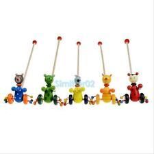 Mini Cartoon Baby Coagent Toddler Child Putting Animal Wooden Puzzle Trolley Toy
